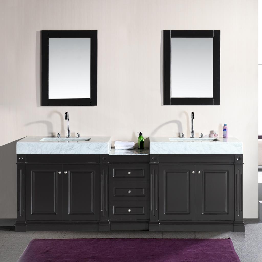 Make Room For An Extra Large Vanity Abode Small Bathroom Vanities Black Vanity Bathroom Double Sink Vanity [ 1024 x 1024 Pixel ]