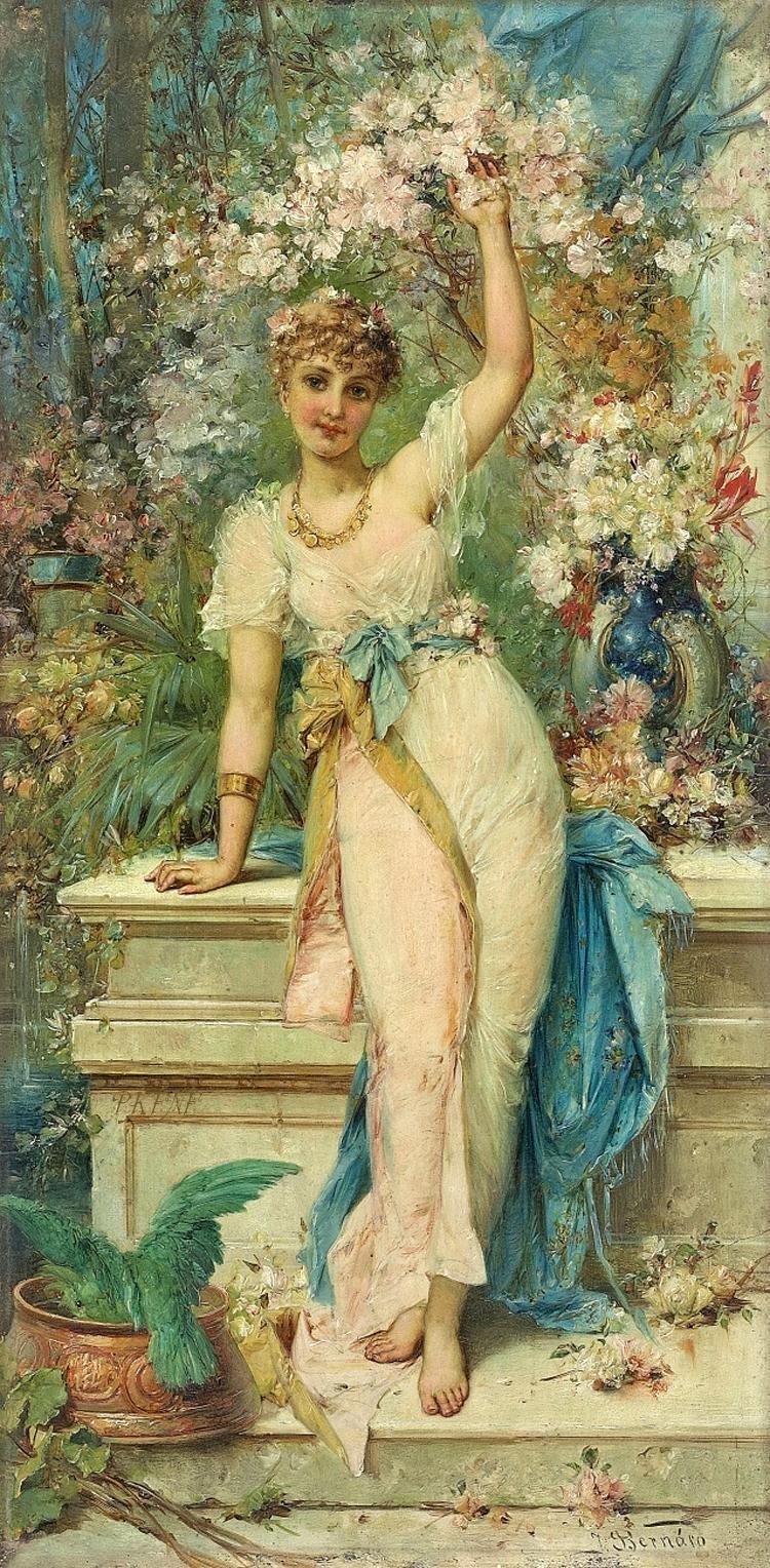 Allegoria della Primavera   TuttArt@   Pittura * Scultura * Poesia * Musica  Hans Zatzka [1859-1949]