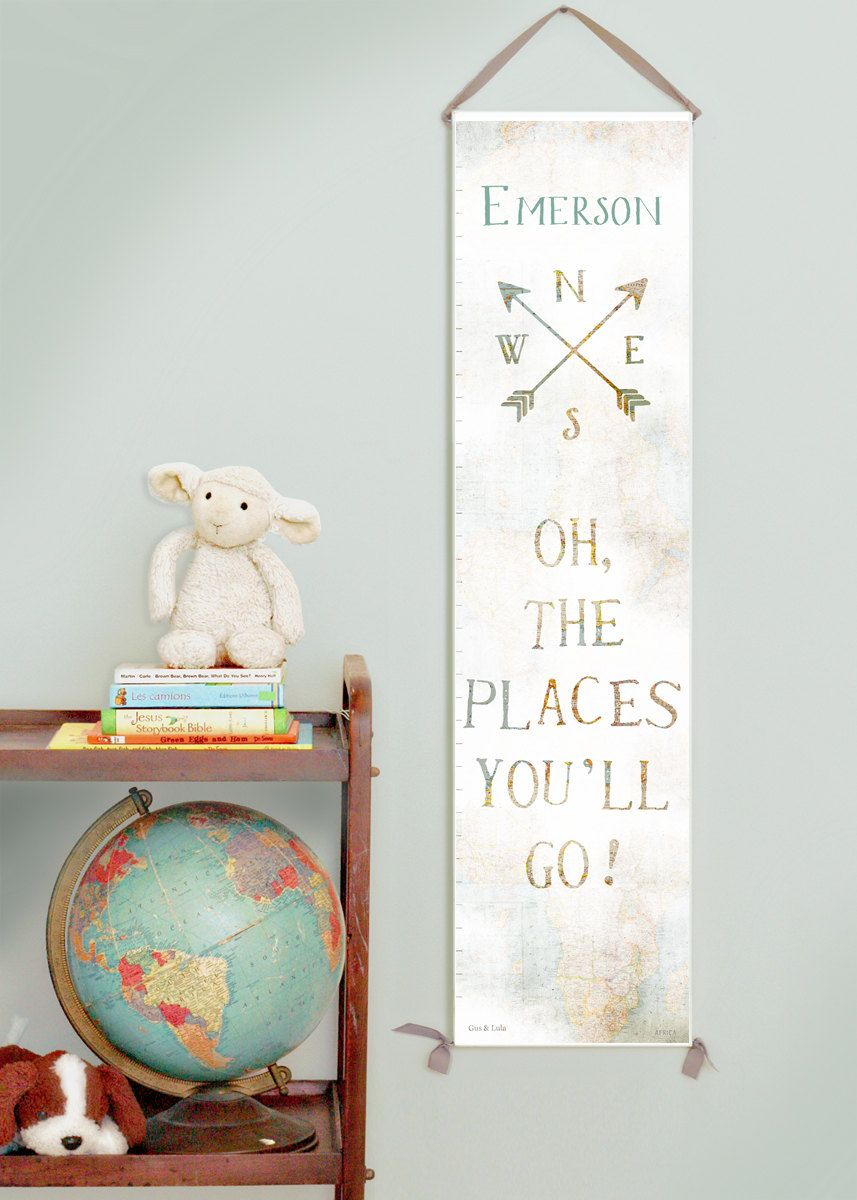Custom personalized oh the places youll go canvas growth chart custom personalized oh the places youll go canvas growth chart with vintage map background travel gender neutral nurserybaby shower gift nvjuhfo Gallery