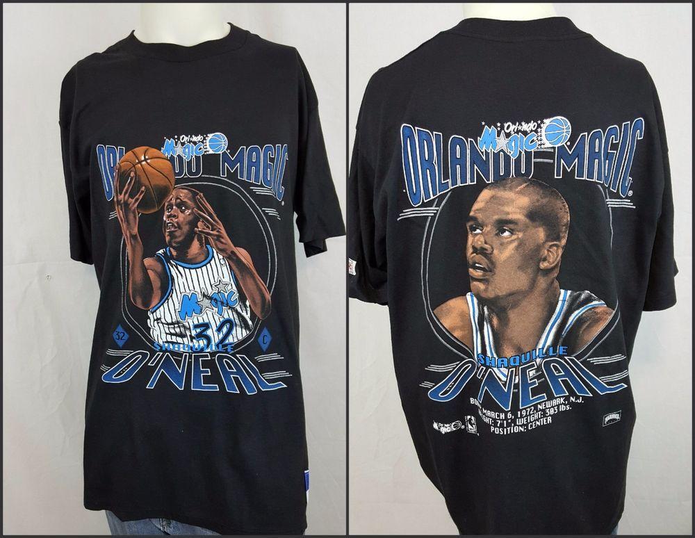 fa7704be Vintage 90's Orlando Magic Shaquille O'Neal SHAQ Black Nutmeg NBA Shirt L  Large #magic #orlandomagic #shaq