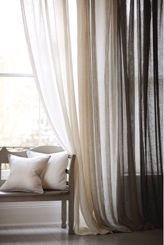 Cordoba Collection Sheer Linen Drapery100 Linen DraperySheer - warme farben frs wohnzimmer