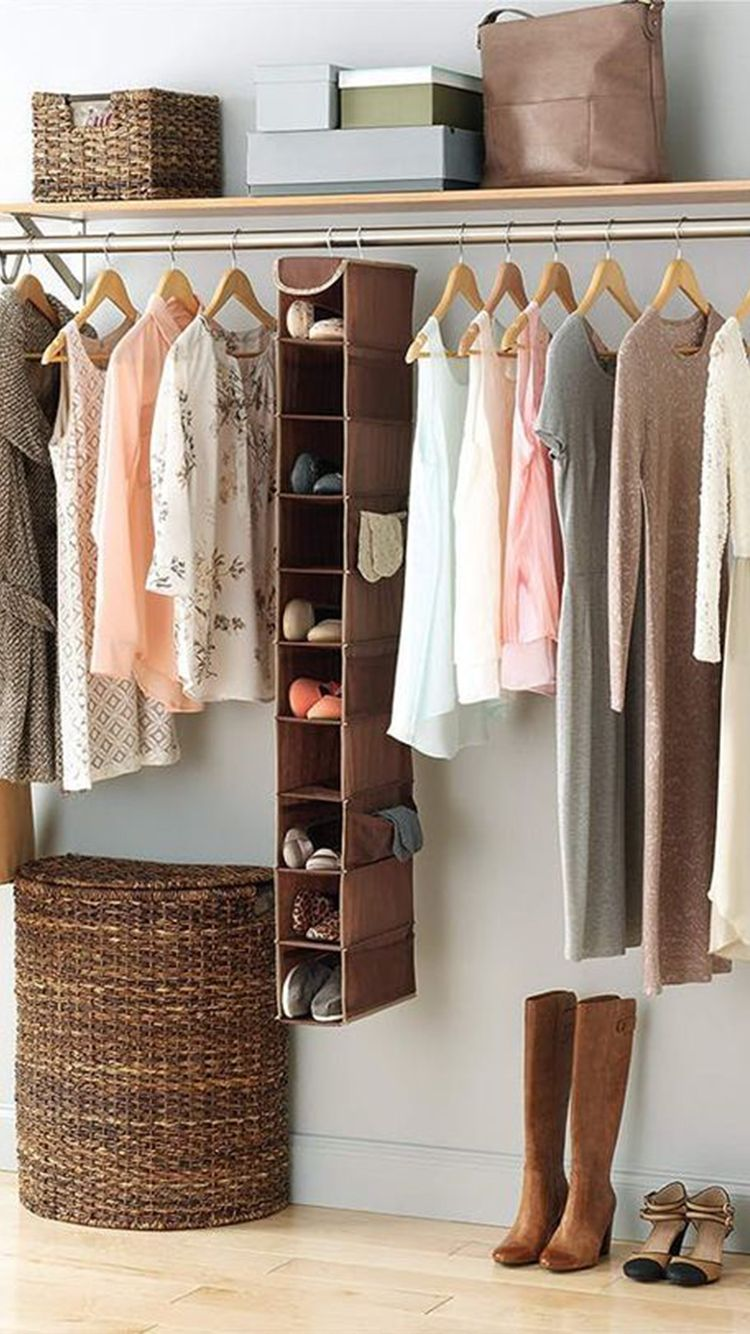 Open Closet Inspiration To Keep Your Wardrobe Super Organized In 2020 Clothes Storage Without A Closet Shoe Shelves Closet Inspiration
