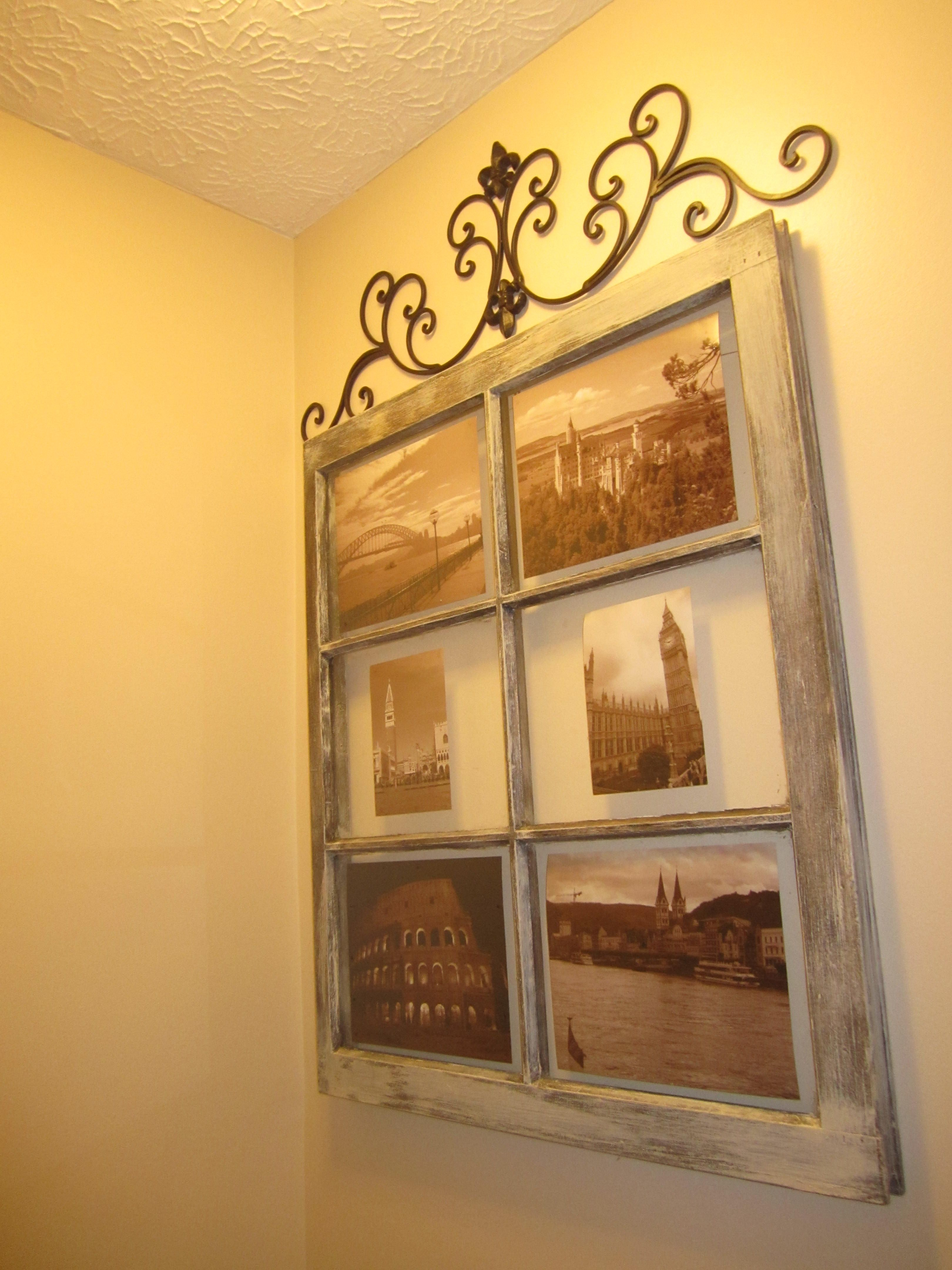 My new favorite picture frame! I bought an old window from an ...