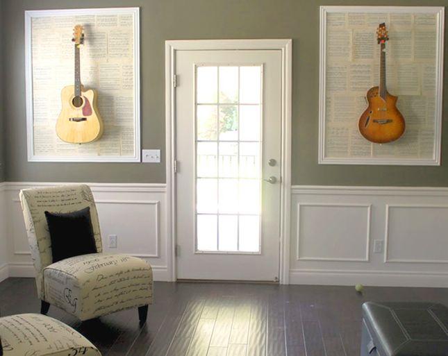 how fun is this wall art home decor guitar wall art guitar wall decor. Black Bedroom Furniture Sets. Home Design Ideas