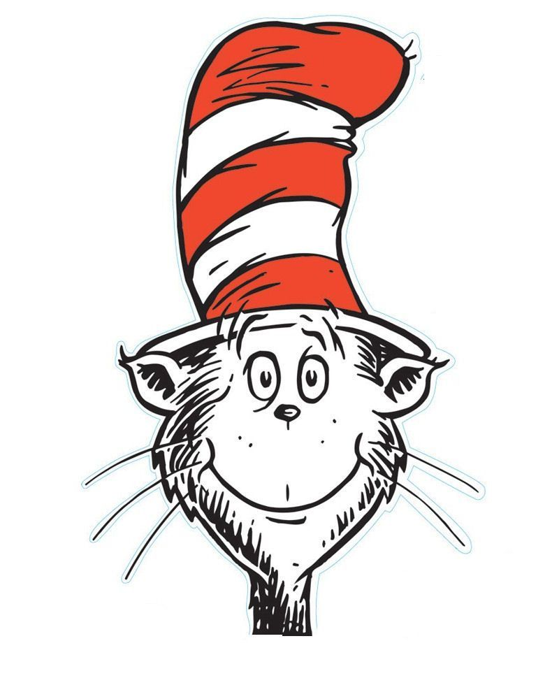 The Excellent The Cat In The Hat Is A Legendary Character In The Picture Inside Blank Cat In The Hat Dr Seuss Birthday Party Dr Seuss Birthday Seuss Crafts