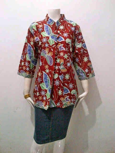 Model Blouse Batik Wanita Kupu Kupu Batik Bagoes Solo Pakaian Daur Ulang Wanita Model Pakaian