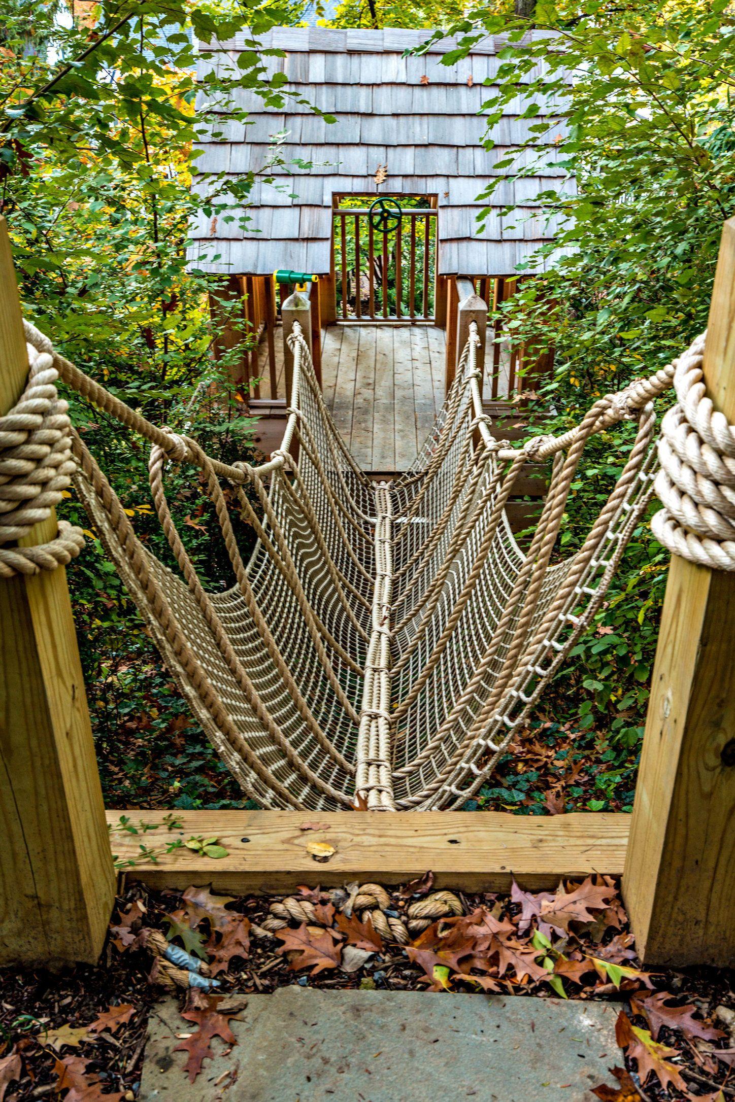 Backyard Rope Bridge treehouse rope bridge | garden love | pinterest | backyard