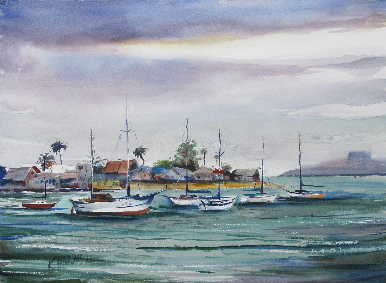Foggy Newport Bay