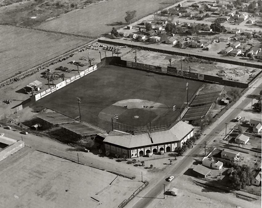 The Original Phoenix Municipal Stadium On The Corner Of