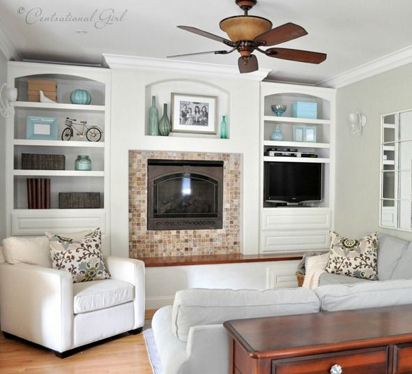 cg family room DIY Pinterest Black ceiling fan, Room and Pillows