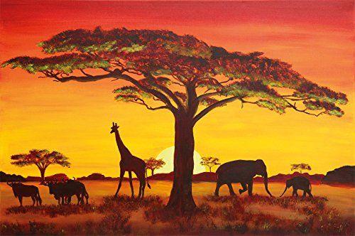 Sunset in Africa Wallpaper – Africa Safari Wallpaper