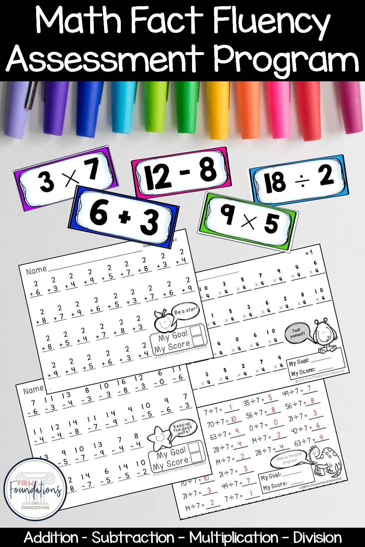 Math Fact Fluency Assessment Program In 2021 Math Facts Math Fact Fluency Fact Fluency [ 1500 x 1000 Pixel ]