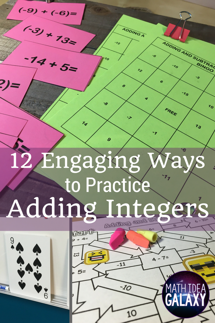 12 Engaging Ways to Practice Adding Integers | Subtracting integers ...