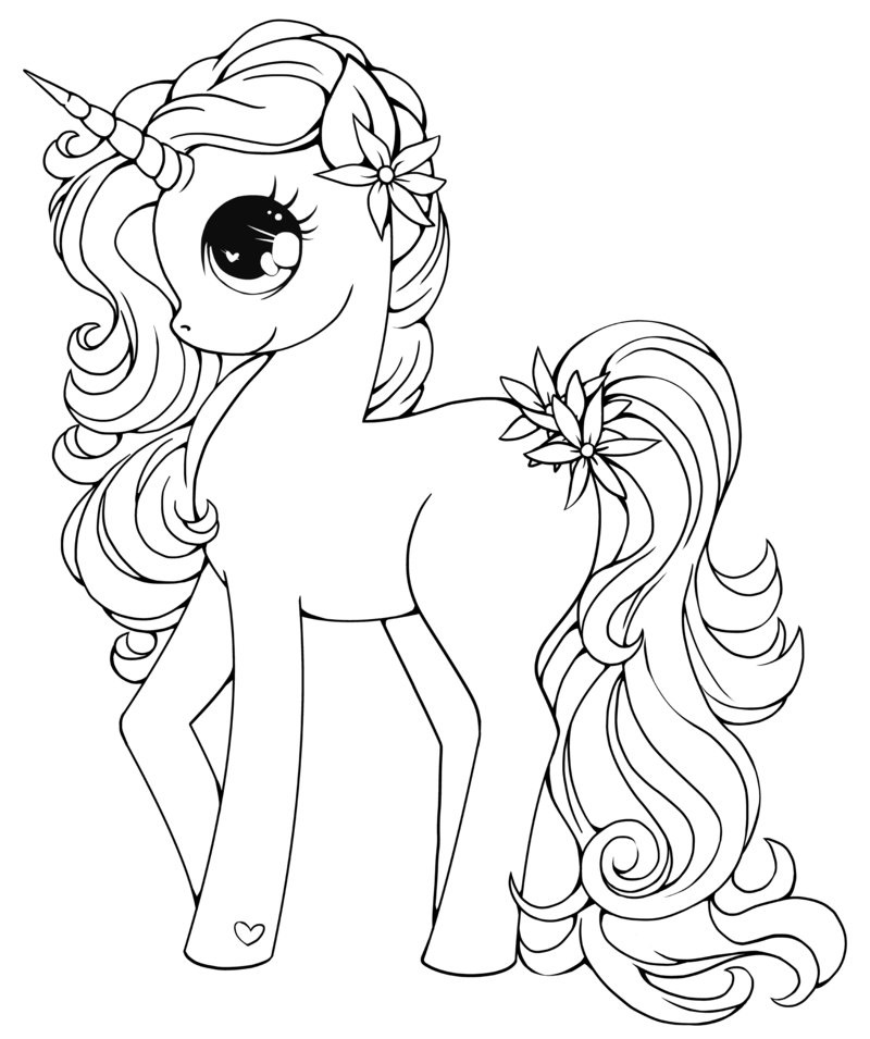 Baby Unicorn Coloring Pages Freely | Educative Printable ...