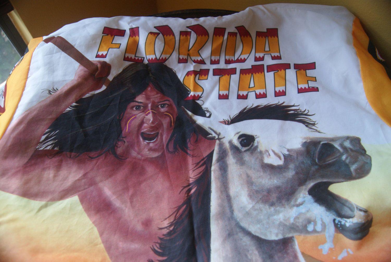 Vintage Florida State Univ, Windbreaker Jacket, Erik, FSU, Fighting Seminole, Chief Osceola, Renegade, Fan Gear, Felt Liner, Size L, 80s by BrindleDogVintage on Etsy