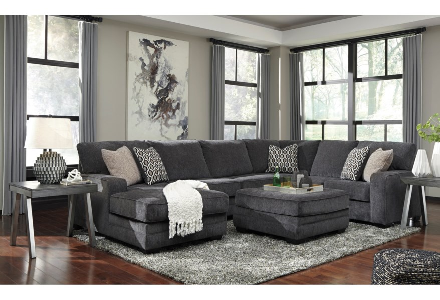 Trace Contemporary Sectional With Left Chaise By Benchcraft At Walker S Furniture In 2020 Sectional Sofa Chaise Sofa Sectional Sofas Living Room #walker #furniture #living #room #sets