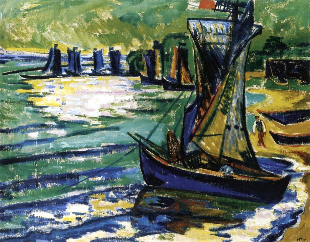 bofransson:  Midday on a Lagoon Hermann Max Pechstein - 1919