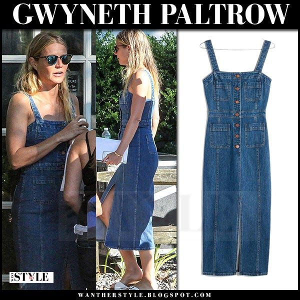 4bea110c5c Gwyneth Paltrow in denim midi dress at Coldplay concert on August 7 ~ I  want her…