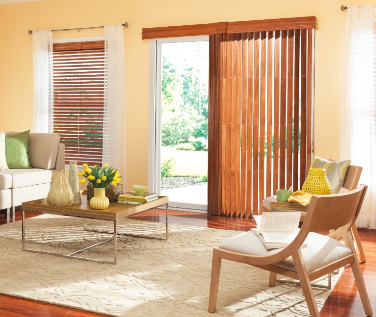 Bali Wood Vertical Blinds With Cord And Chain Control And