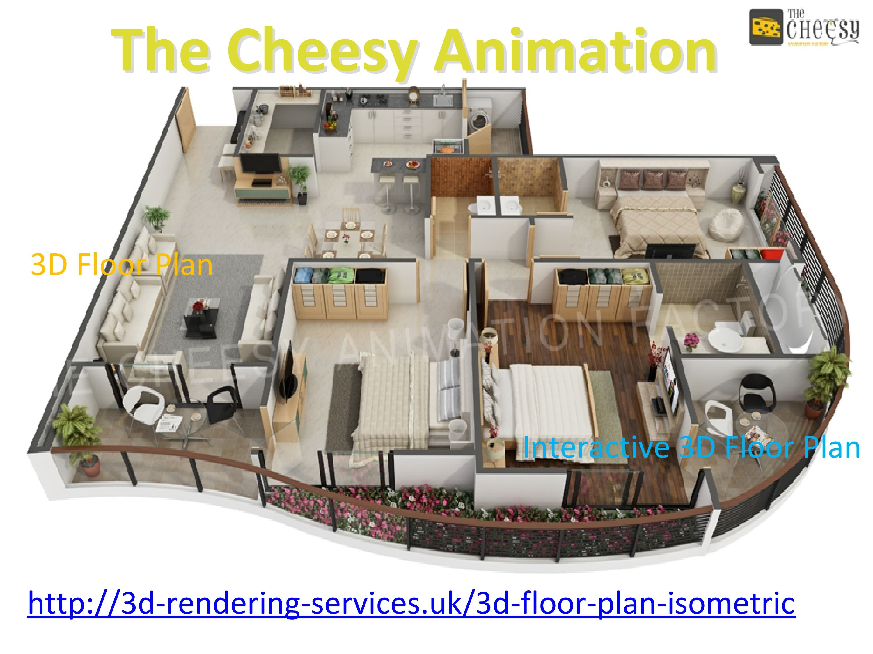 Our Studio Specialized 3D Floor Plan, Interactive 3D Floor Plan, 3D Wall  Cut Plan