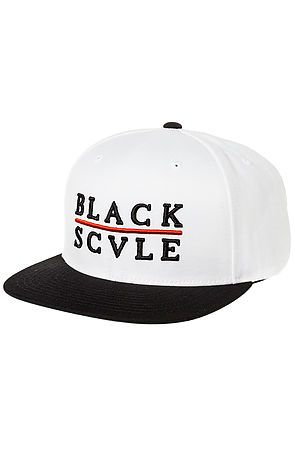 The Red Line Snapback Hat in White by Black Scale  52c4e9e10ae5
