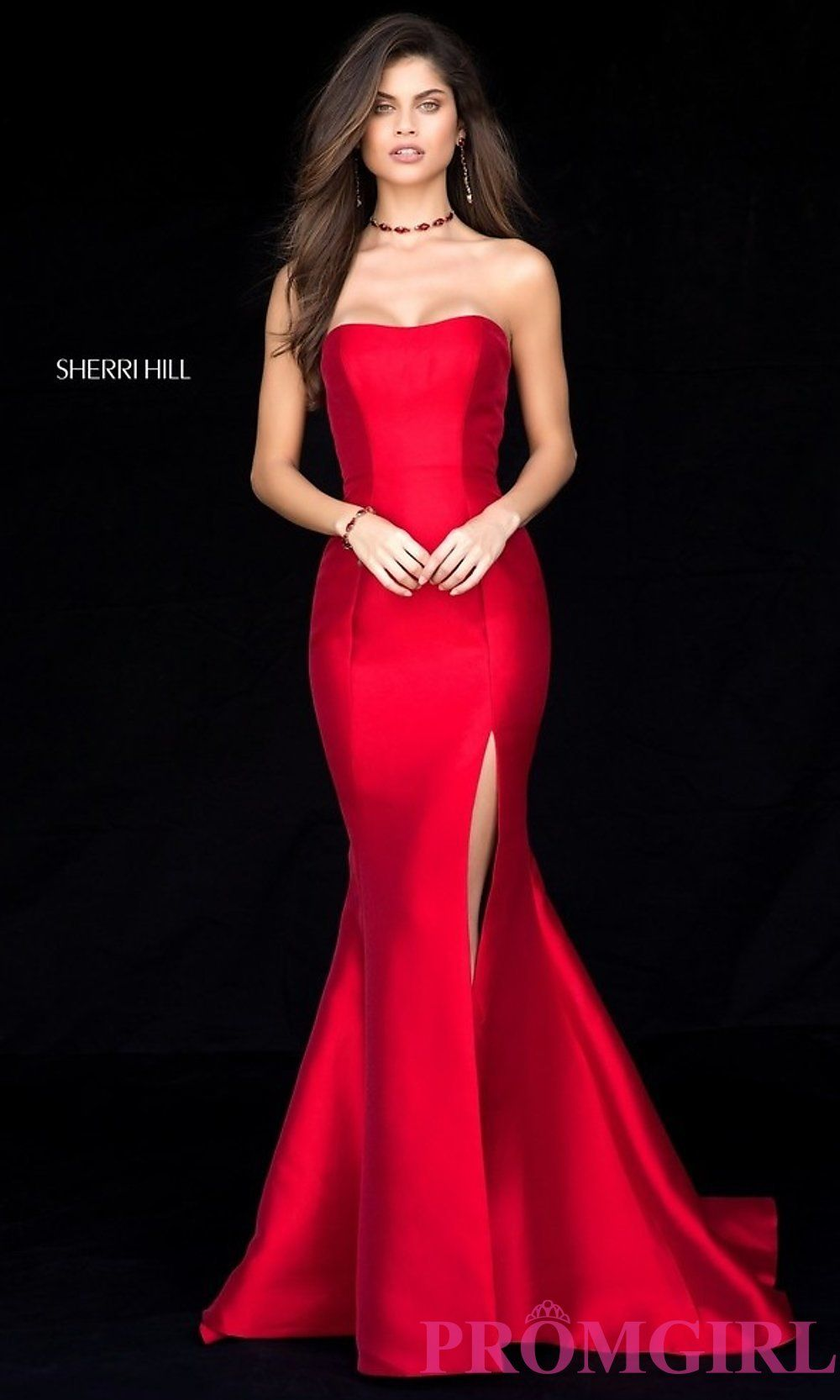 Strapless Long Prom Dresses with Trains