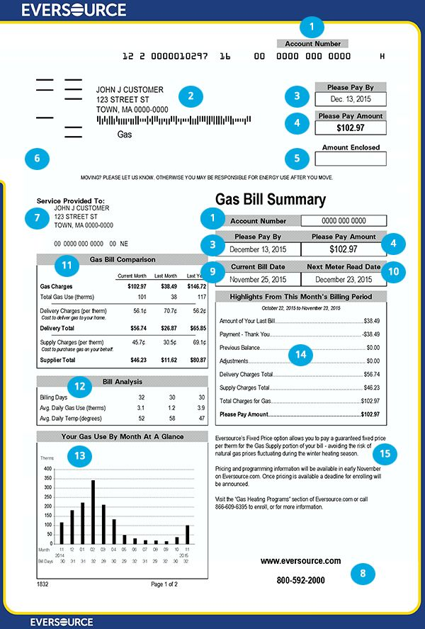 Gas Bill Front Page Jpg 600 888 Bill Template Gas Bill Bills