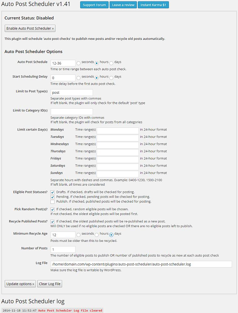 autopostscheduler screenshot 1 schedule, schedule web developer cv example resume summary for human resources sample medical secretary receptionist