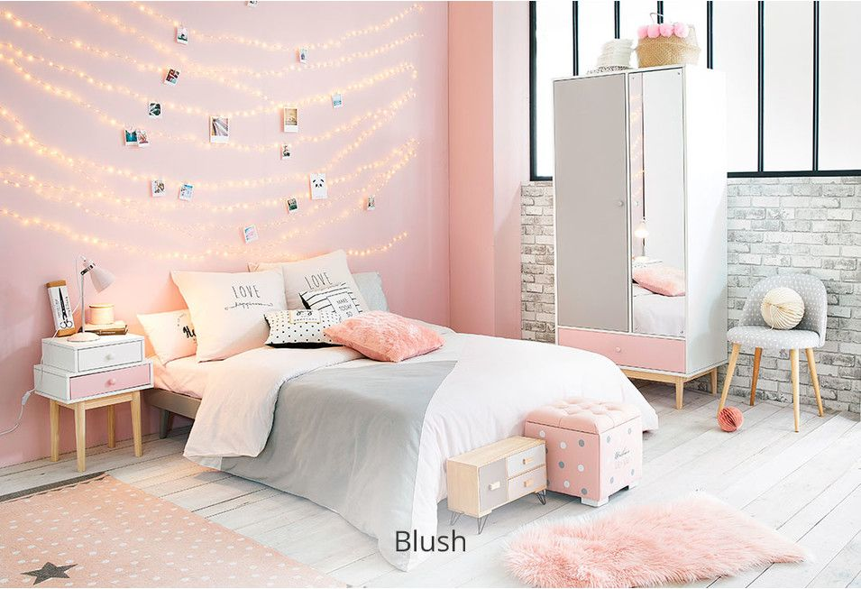 Gehele Inrichting Chambre Rose Et Blanc Deco Chambre Rose Gold