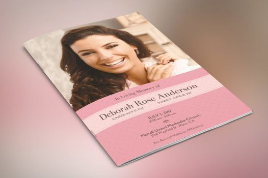 Glamour Funeral Program Small Template by Godserv Templates - funeral brochure template