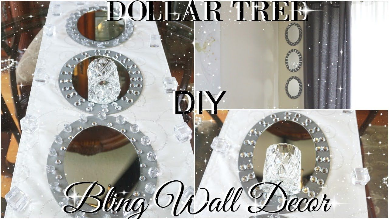 DIY DOLLAR TREE GLAM MIRROR WALL SCONCE