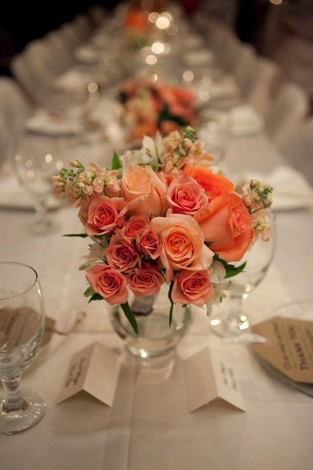 Coral Wedding Flowers Centerpieces 03   Flower centerpieces ...