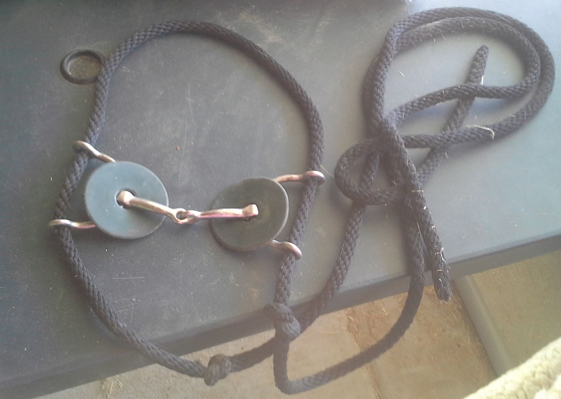 "USED 5"" Gag Bit w/rubber rings & rope  $10"