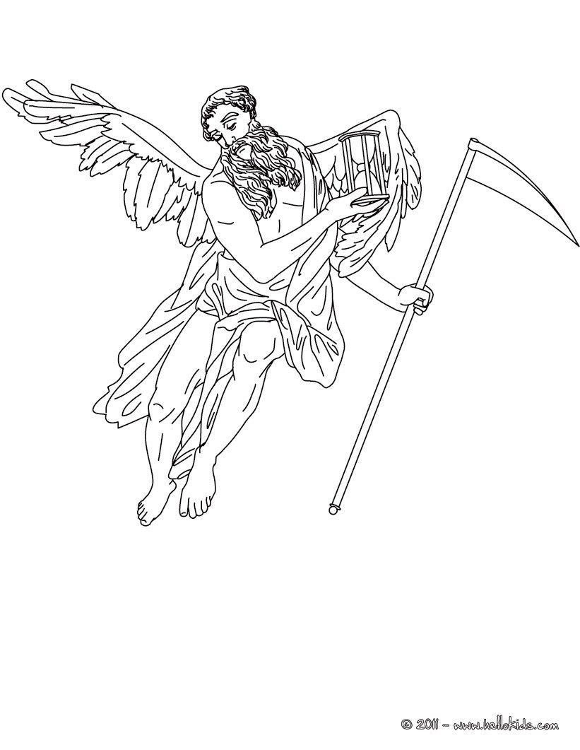Desenho De Cronos Deus Do Tempo Para Colorir E Pintar Cronos