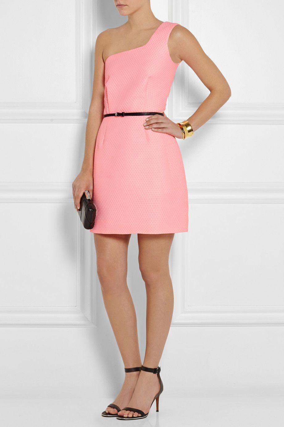 Victoria, Victoria Beckham | One-shoulder jacquard mini dress ...