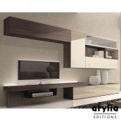 Meuble TV design laqué Lucita LED ATYLIA Editions | Me Di Ha ...