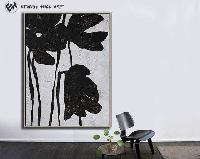 Grand mur art toile art abstrait fleurs art moderne toile peinture