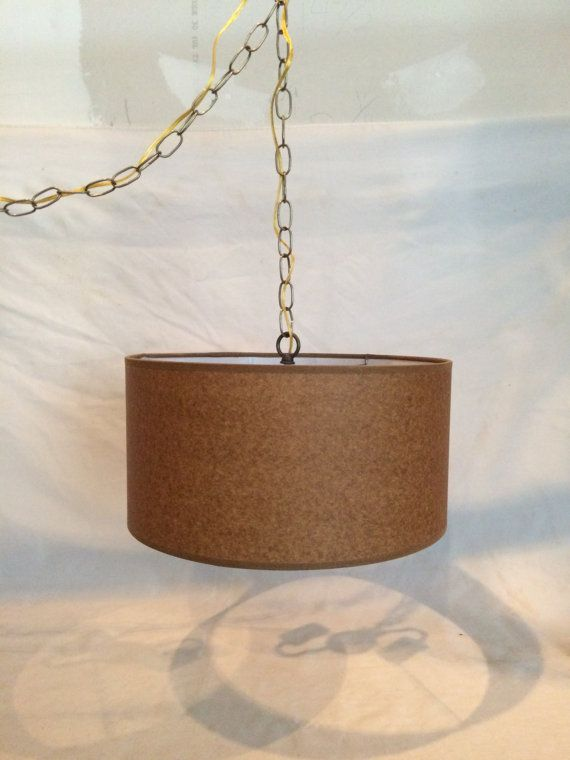 Mid Century Modern Swag Hanging Lamp Plug in 15' cord