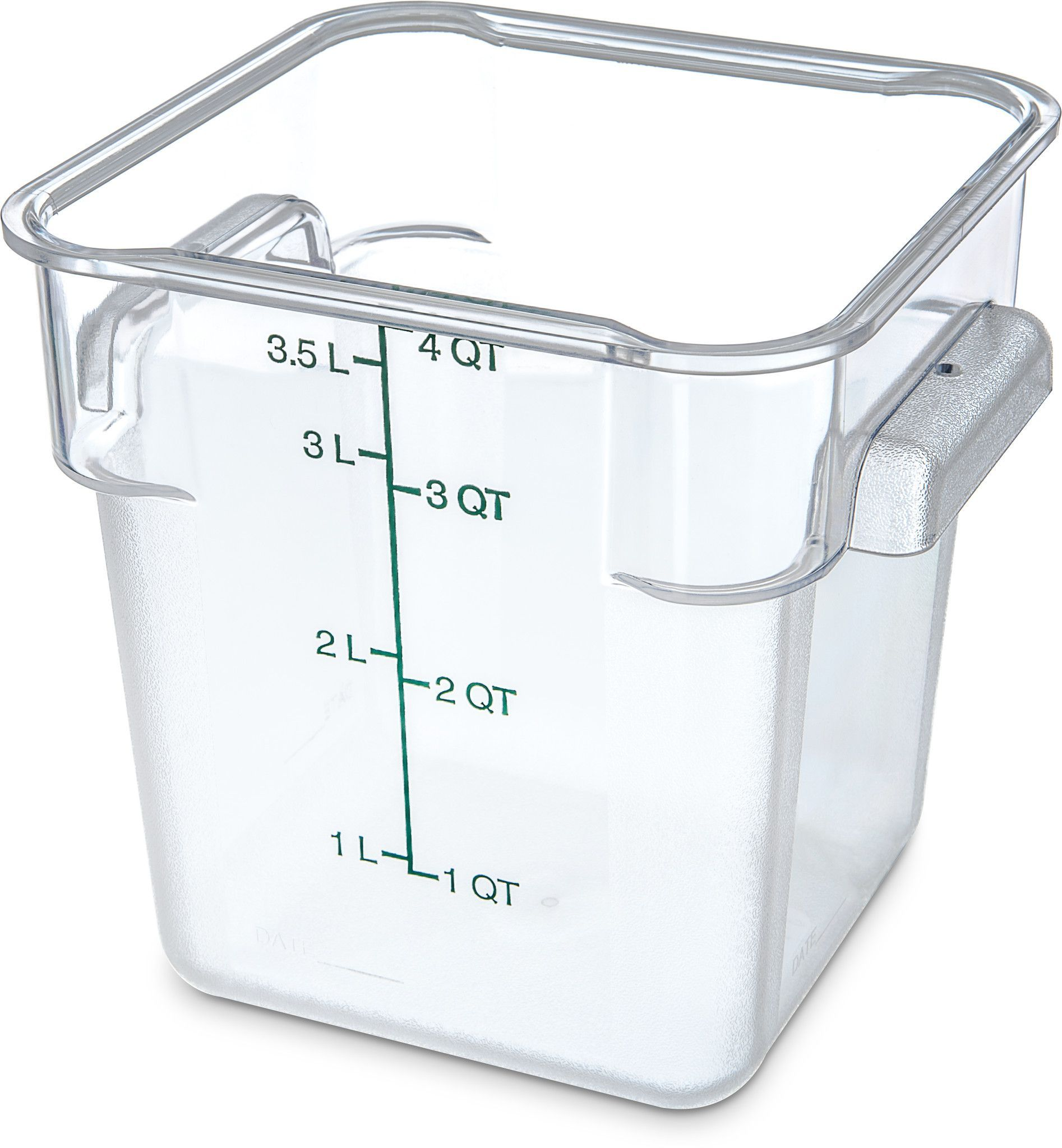 4 qt clear square food storage container 1072107 food