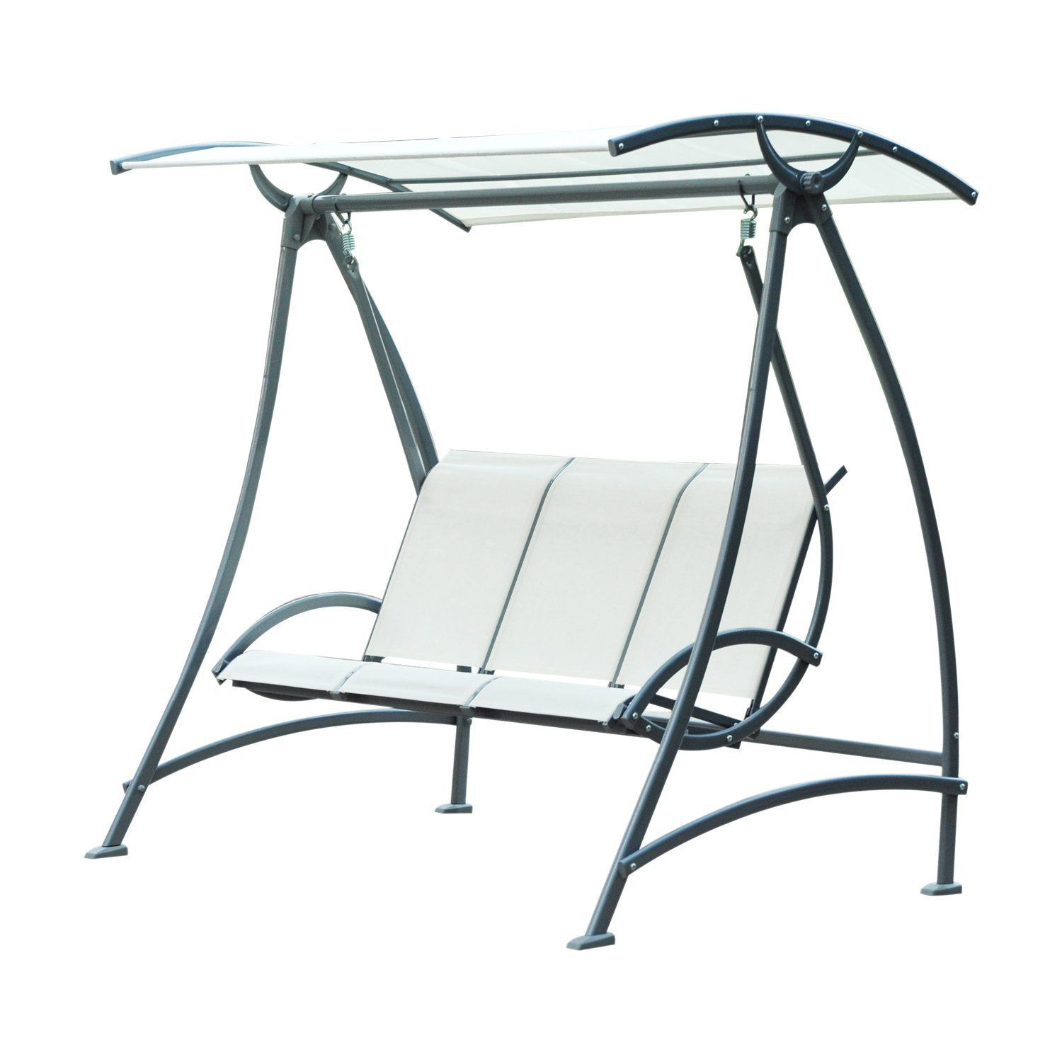 Outsunny Garden 3 Seater Swing Chair Patio Outdoor Swinging Hammock Canopy Bench Seat Porch Deck Furniture  sc 1 st  Pinterest & Outsunny Garden 3 Seater Swing Chair Patio Outdoor Swinging ...