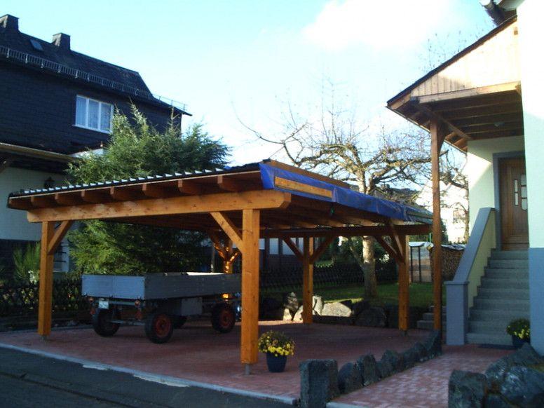 6 Elegant Flat Roof Wood Carport di 2020