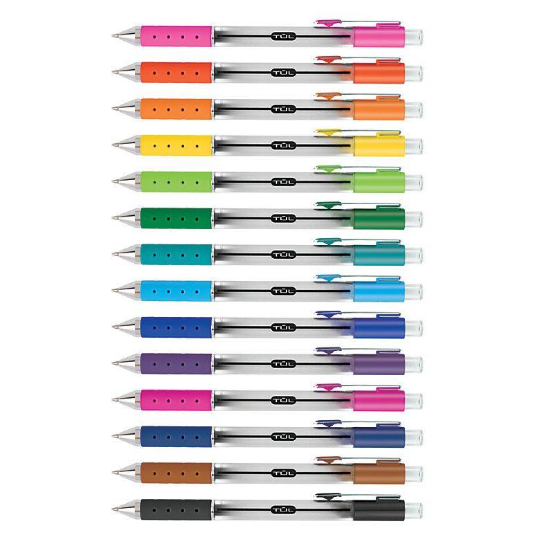TUL GL Series Retractable Gel Pen Medium Point mm Silver Barrel Assorted  Ink by Office Depot & OfficeMax
