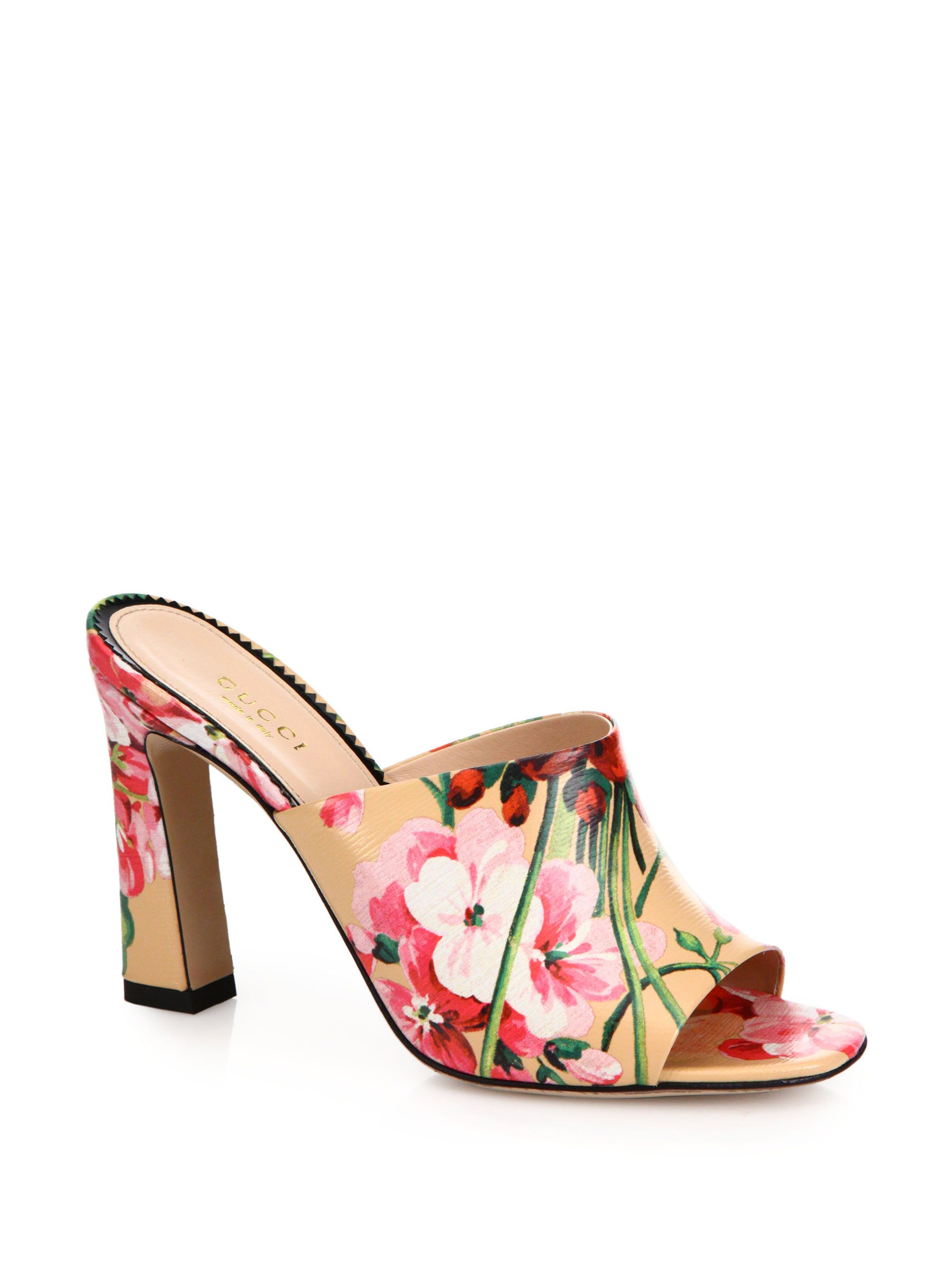 Gucci Floral-printed leather pumps 9JinebSt