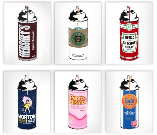 Mr Brainwash - Spray Can (Set of 6)