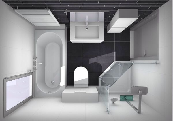 Kleine badkamer met apart douche en bad - Huis   Pinterest - Kleine ...