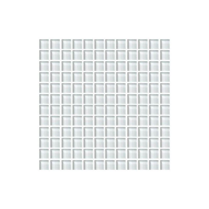 """Daltile CW02-11MS1P Color Wave 1"""" x 1"""" Feather White Glass Mesh Mounted Mosaic W Feather White Tile Wall Tile Mosaic"""