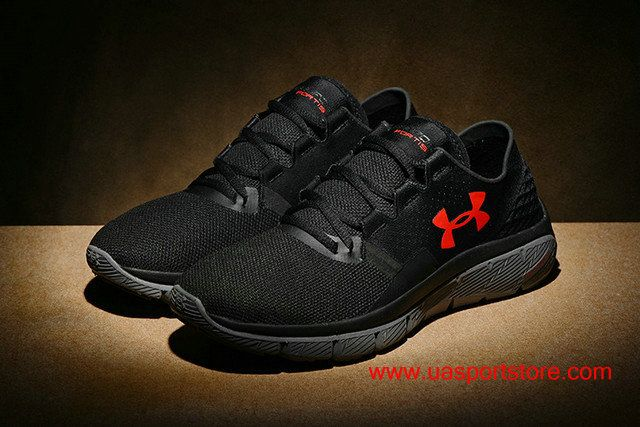 c5852d5fcd3 2017 New Under Armour SpeedForm Fortis 2 Carbon black Red light Running  Shoes For Men  72.00