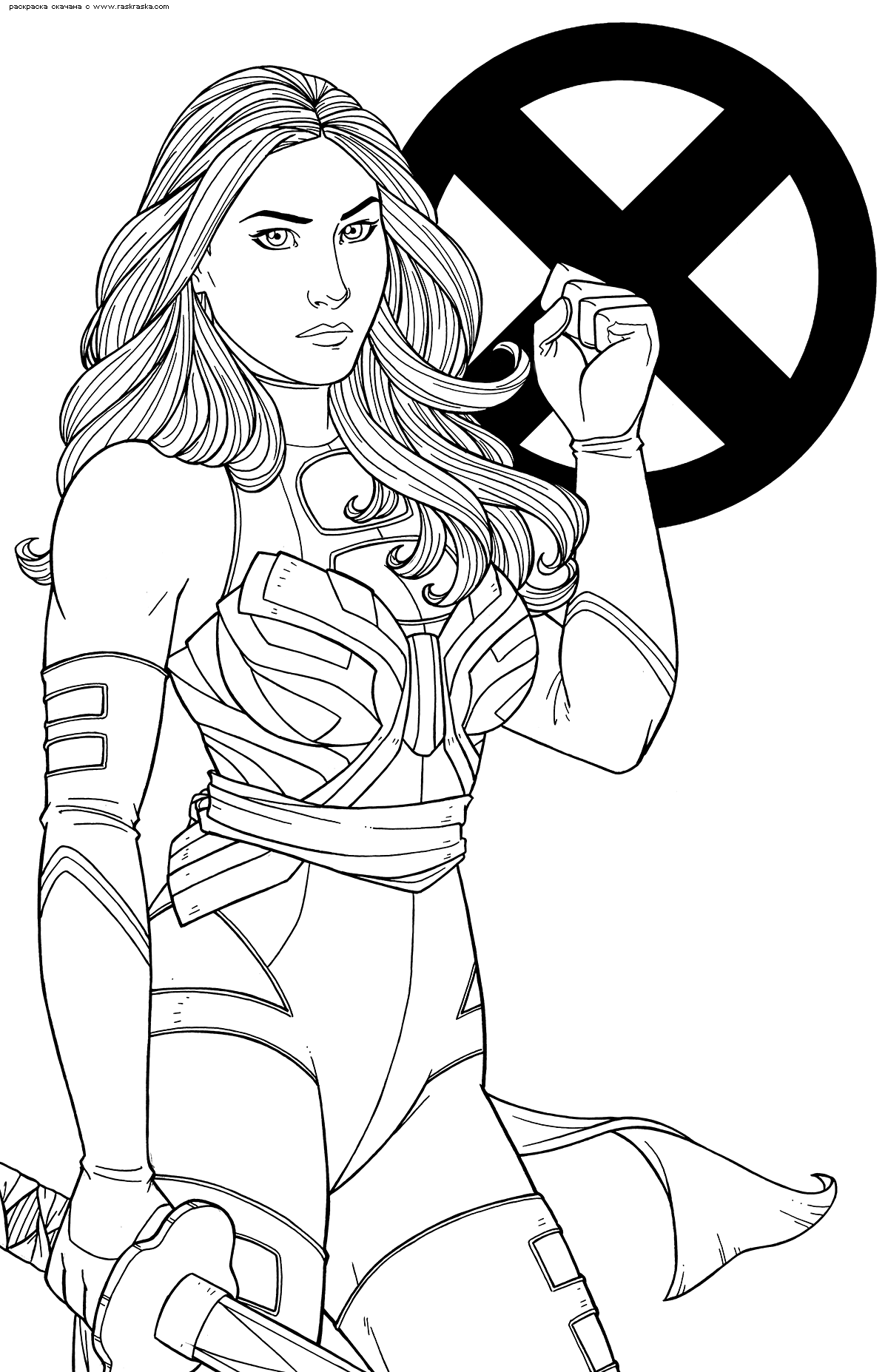 Superhero Coloring Pages Raskraski Supergeroi In 2020 Betsy Braddock Coloring Pages Avengers Coloring