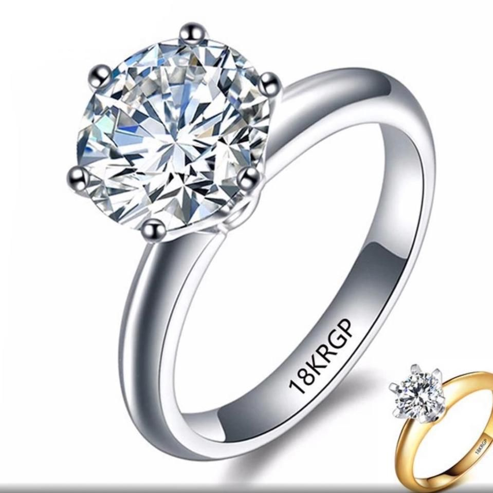 Silver High Quality Pure Gold Filled Ring Gold Filled Ring Cubic Zirconia Wedding Rings Wedding Rings For Women