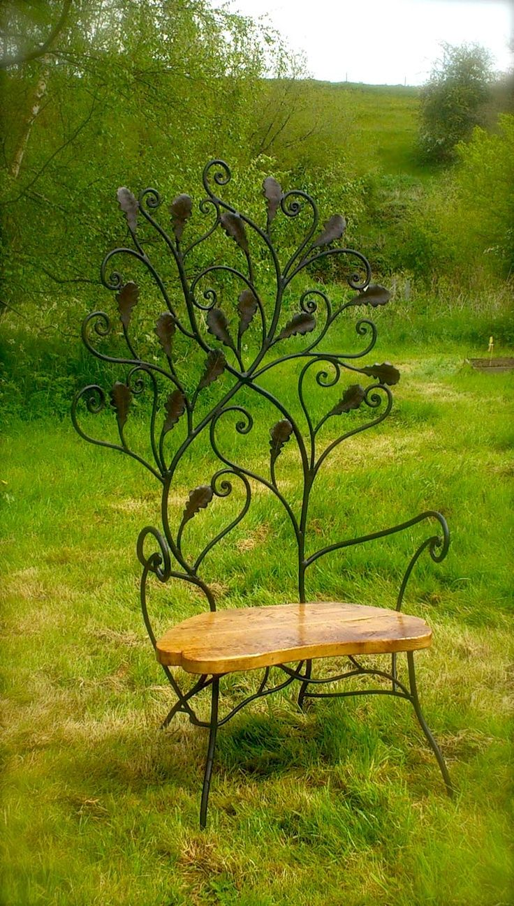 Iron Chair For Garden Wrought Iron Furniture Garden Seating Tables Lightiing Benches Beds Decoration Murale Metal Deco Jardin Fer Forge